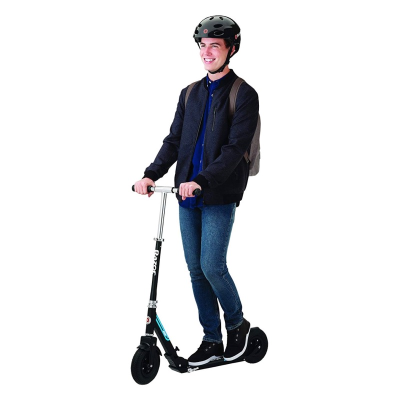 A5 Air Kick Scooter With Rider On White Background