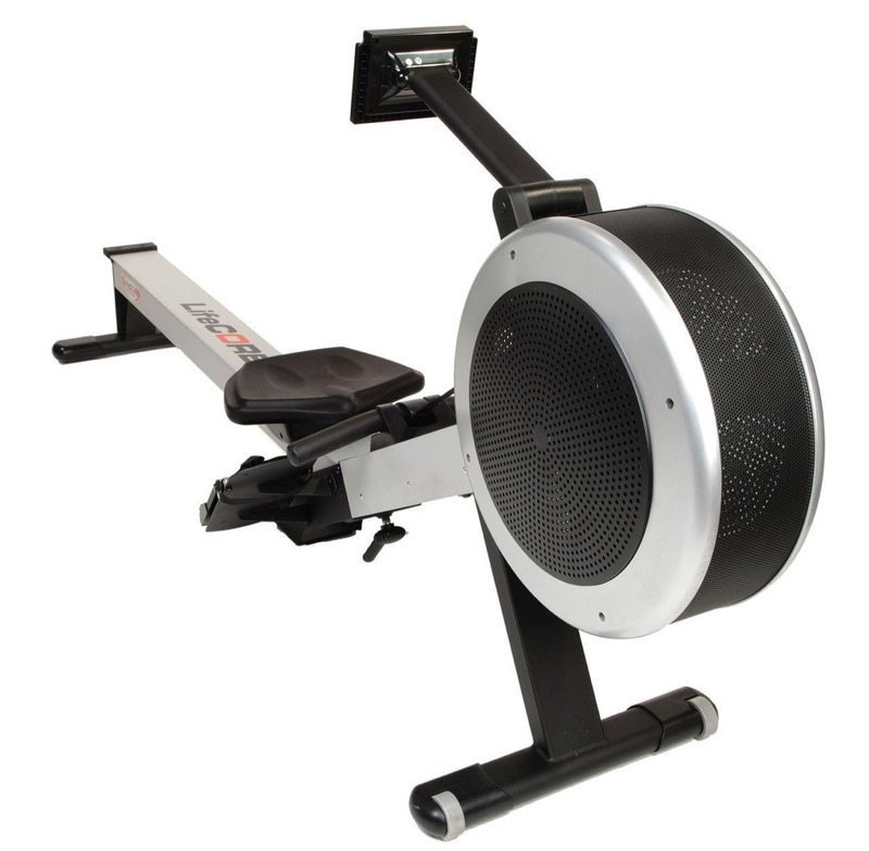 Lifecore R100 Deluxe Rowing Machine On White Background