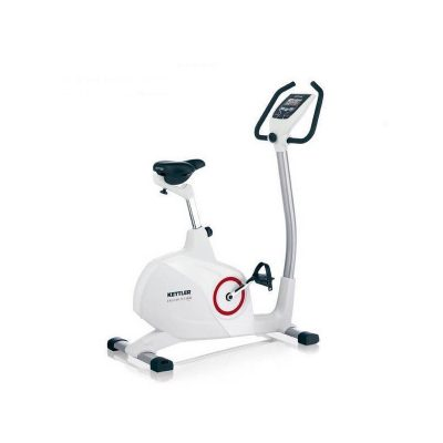 Kettler E3 Upright Ergometer Exercise Bike On White Background